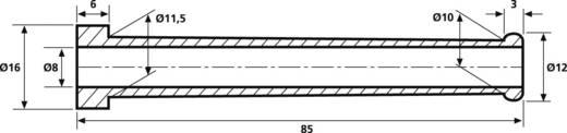 Törésgátló Szorítási átmérő (max.) 8 mm PVC Fekete HellermannTyton HV2107-PVC-BK-T1 1 db