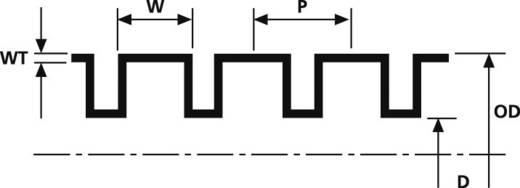 Bordás cső IWS-19-N6-BK-L1 (50M)