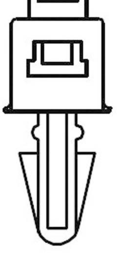 Kábelkötöző terpesztő horgonnyal; (H x Sz) 132 mm x 4.8 mm PCVS130 Szín: Natúr 1 db KSS