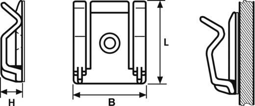 HellermannTyton kábelrögzítő, natúr, RB TY8H1S-N66-NA-C1