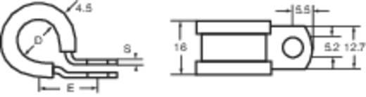 Alumínium rögzítőbilincs, koloprén védőprofillal Csipesztartomány Ø: 9.5 mm HellermannTyton Tartalom: 1 db