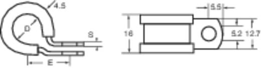 Rögzítő bilincs, alumínium, 17.5 MM ALU13C