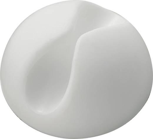 Öntapadó kábeltartó, Ø max. 9mm, fehér
