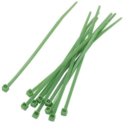 Kábelkötöző készlet, színes (H x Sz) 100 mm x 2.2 mm PBR-100-4GN Szín: Zöld 100 db KSS