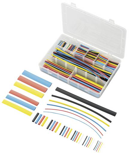 Conrad zsugorcső készlet, 2:1, színes, 564 db