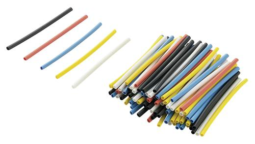 Conrad zsugorcső utántöltő készlet, 2:1, 40 mm, színes, 125 db, RPS1