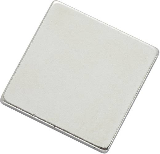 Mágneses lap, öntapadós (H x Sz)20 mm x 20 mm ezüst N35 Neodymium nikkelezett N35-202002 Conrad