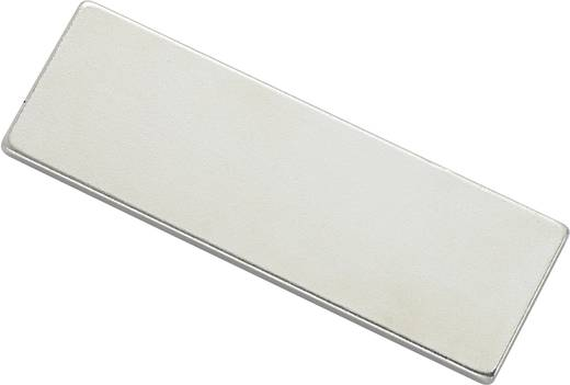 Mágneses lap, öntapadós (H x Sz)45 mm x 15 mm ezüst N35 Neodymium nikkelezett N35-451502 Tru Components