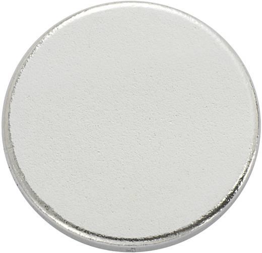 Mágneses lap, öntapadós (Ø) 15 mm ezüst N35 Neodymium nikkelezett N35-3502 Conrad