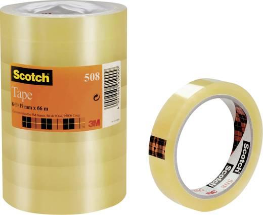 Átlátszó ragasztószalag, Scotch® 508 (H x Sz) 66 m x 19 mm, átlátszó FT-5100-9733-8 3M, tartalom: 8 tekercs