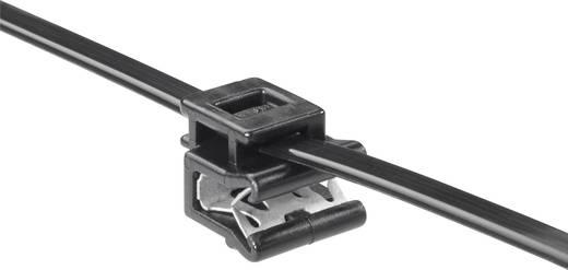 Kábelkötegelő kábeltartóval 200 x 4,6 mm, fekete, 1 db, HellermannTyton 156-00661 T50ROSEC5A-PA66W_D1