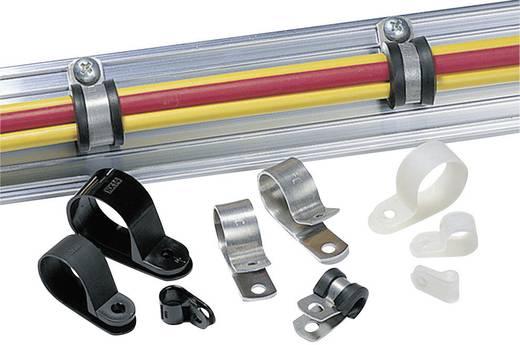 Alumínium rögzítőbilincs, csipesztartomány Ø: 17.5 mm ALU11-ALU-NA-C1 HellermannTyton, tartalom: 1 db