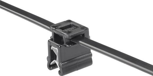 Kábelkötegelő kábeltartóval 200 x 4,6 mm, fekete, 1 db, HellermannTyton 150-76099 T50ROSEC4A-MC5-BK-D1