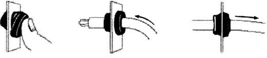 Kábelátvezetés, lyuk Ø 12,5 MM
