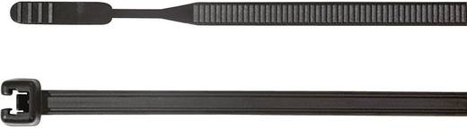 Kábelkötöző, Q-Tie (H x Sz) 160 mm x 3.6 mm Q30R-W-BK-C1 Szín: Fekete 100 db HellermannTyton