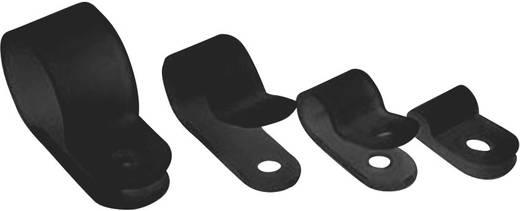Rögzítőbilincs, poliamid HP Csipesztartomány Ø: 3.2 mm H1P-HS-BK, fekete HellermannTyton, tartalom: 1 db