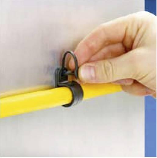 Pan-Clamp™ rögzítő bilincs patenttal Köteg Ø: max. 22.1 mm PC087-H25D-C0 Fekete Panduit Tartalom: 1 db