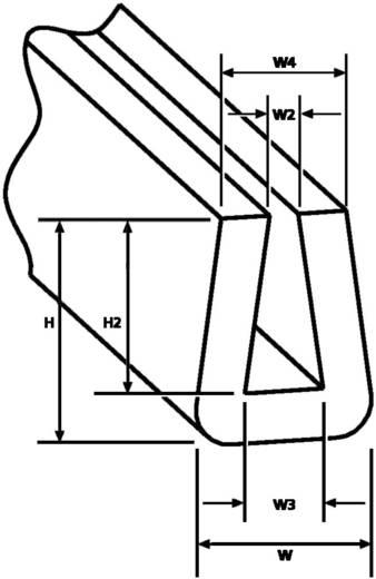 HellermannTyton EdgeGuard élvédő, fekete, SM1-PVC-BK-75M