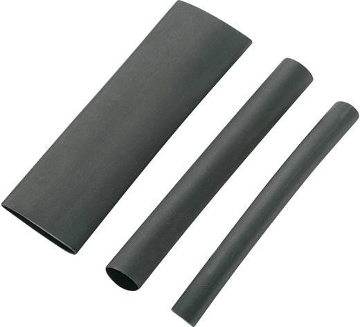 Zsugorcső készlet Fekete 12.70 mm Zsugorodási arány
