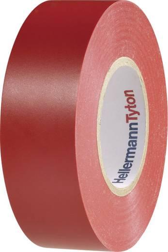 Prémium PVC szigetelőszalag, (H x Sz) 20 m x 19 mm, piros PVC HelaTape Flex 1000+ HellermannTyton, tartalom: 1 tekercs