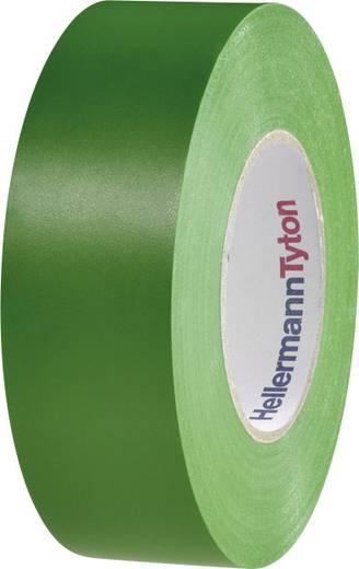 Prémium PVC szigetelőszalag, (H x Sz) 20 m x 19 mm, zöld PVC HelaTape Flex 1000+ HellermannTyton, tartalom: 1 tekercs
