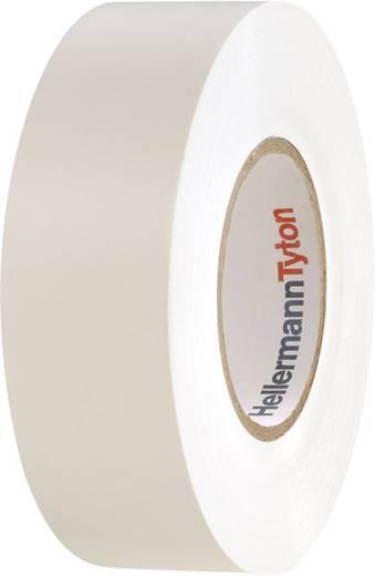 Prémium PVC szigetelőszalag, (H x Sz) 20 m x 19 mm, fehér PVC HelaTape Flex 1000+ HellermannTyton, tartalom: 1 tekercs