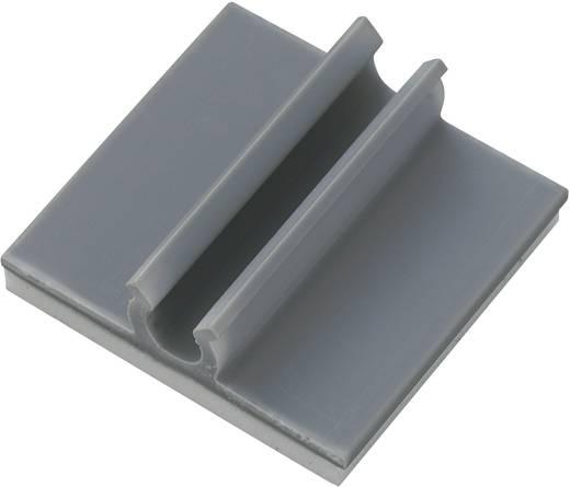 Öntapadós kábeltartó, szürke, tartalom: 1 db Ø 9,5 mm