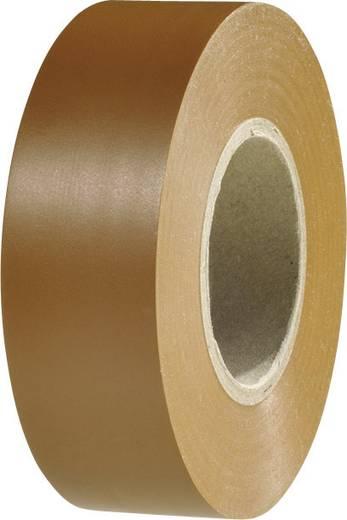 Prémium PVC szigetelőszalag, (H x Sz) 20 m x 19 mm, barna PVC HelaTape Flex 1000+ HellermannTyton, tartalom: 1 tekercs