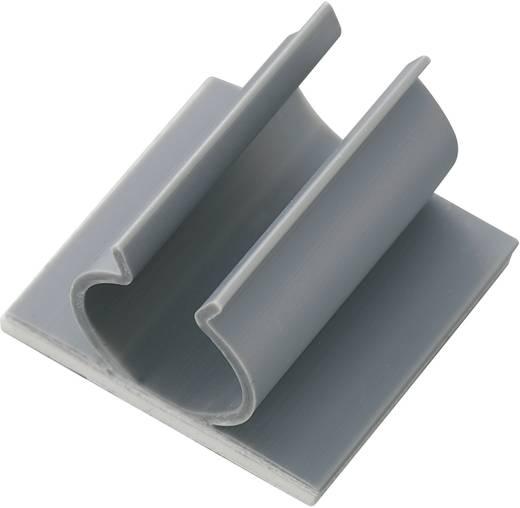 Öntapadós kábeltartó, szürke, tartalom: 1 db Ø 12,7 mm