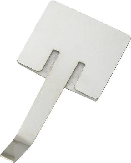 Öntapadó kábelbilincs, ezüst, tartalom: 1 db Ø 6 mm, 17,1 x 11,3 mm