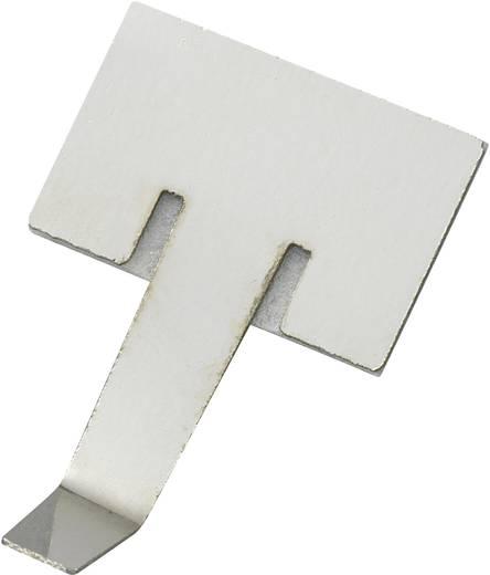 Öntapadó kábelbilincs, ezüst, tartalom: 1 db Ø 9,5 mm, 19,3 x 16,3 mm