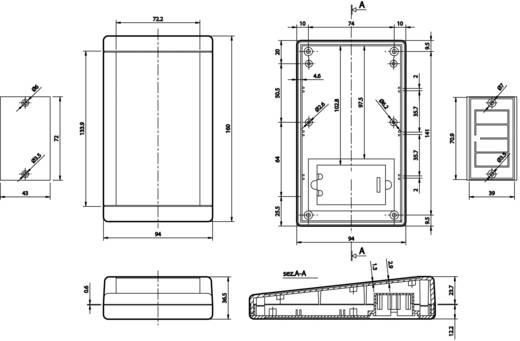 Kézi műszerdoboz ABS, fehér 160 x 94 x 36.5 mm, TEKO TB-1SP.7