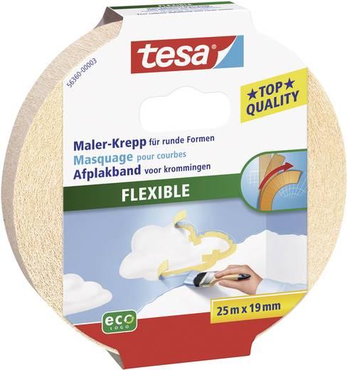 Krepp flexibilis ragasztószalag Tesa® Masking Tape Flexible 25 m x 19 mm TESA 56360
