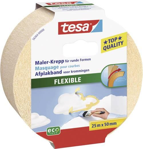 Krepp flexibilis ragasztószalag Tesa® Masking Tape Flexible 25 m x 50 mm TESA 56364
