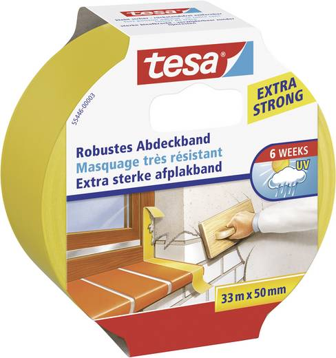 Robosztus maszkoló szalag (H x Sz) 33 m x 50 mm, sárga 55446 TESA, tartalom: 1 tekercs