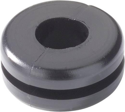 Kábelátvezető gyűrű Ø 6 mm, PVC, fekete, HellermannTyton HV1207-PVC-BK-M1