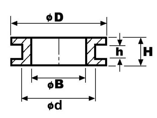 Kábelvédő átvezető gumigyűrű 14x10x6x1,5x6,4 mm
