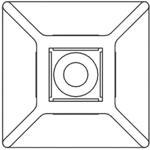 KSS öntapadós rögzítő kábelkötözőhöz, fekete, HCR25