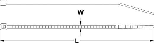 Kábelkötöző, 200 MM, natúr, 100 db, szélesség 7,6 mm