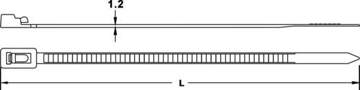 Kábelkötöző, újranyitható 125 mm fekete 100 db