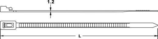 Kábelkötöző, újranyitható 250 mm fekete 100 db
