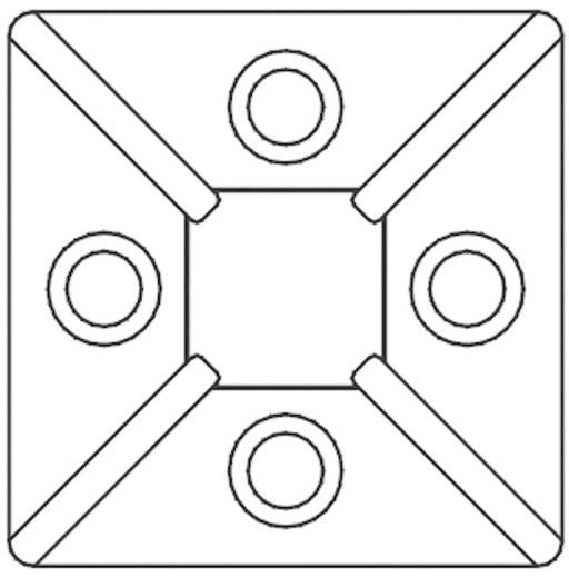 KSS öntapadós rögzítő kábelkötözőhöz, fekete, HCR3838