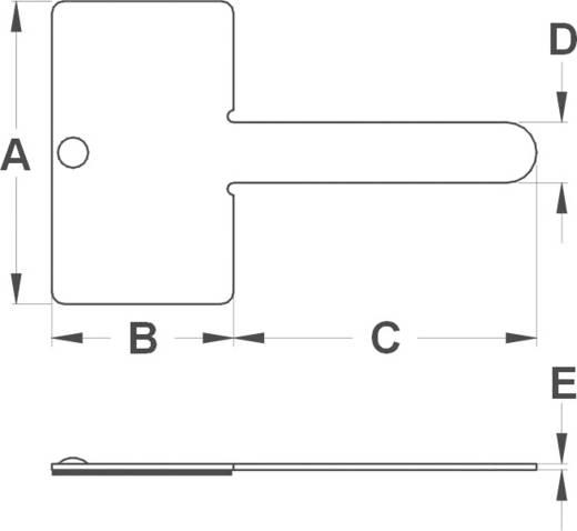 Kábelrögzítő, öntapadó MWCR15 Ezüst KSS