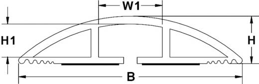Hajlékony kábelhíd, öntapadó (H x Sz x Ma) 183 x 10.16 x 2.32 cm Barna