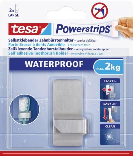 Vízálló fogkefe tartó, fém, Tesa Powerstrips 59708