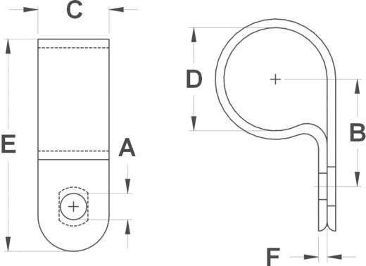 Kábel rögzítőbilincs, átm. 36,7MM/furat 4,6MM