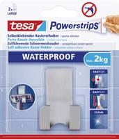 Vízálló fali borotva tartó, fém, Tesa Powerstrips 59709, 1 db (59709) tesa
