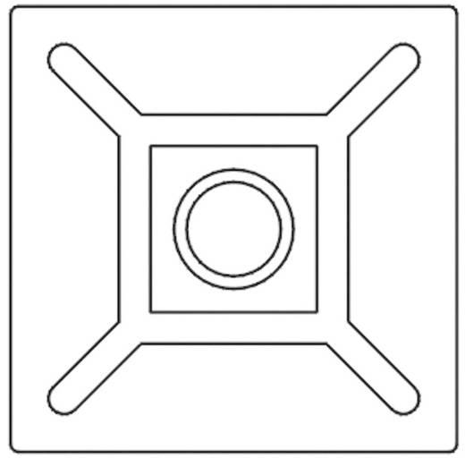 KSS öntapadós rögzítő kábelkötözőhöz, fekete, HCR102