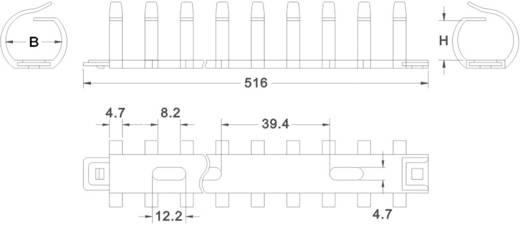 Hajlékony kábelköteg tartó, FDR20 5 - 12 vezeték KSS tartalom: 1 db