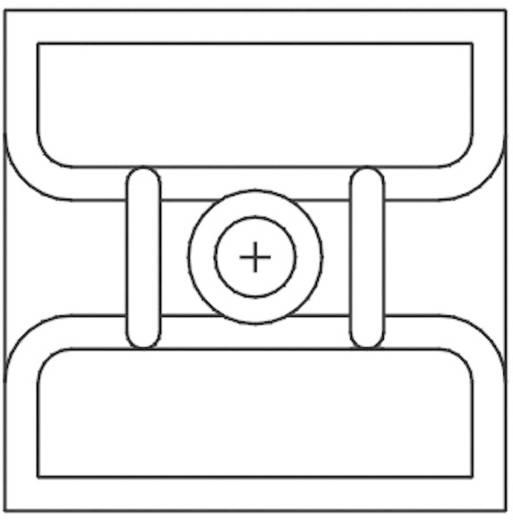 KSS öntapadós rögzítő kábelkötözőhöz, fekete, HCR103
